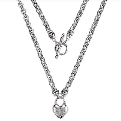 Picture of Scott Kay Diamond Heart Necklace