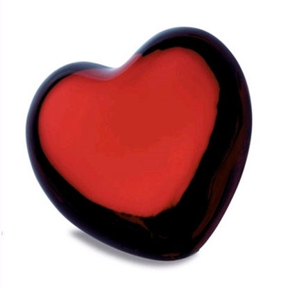 Picture of Baccarat Ruby Puffed Heart Paperweight