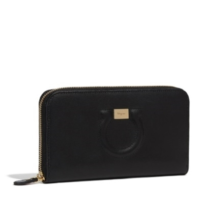 Picture of Salvatore Ferragamo Gancino City Zip-Around Wallet