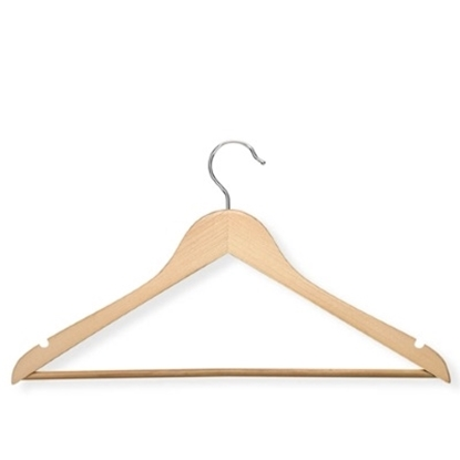 Picture of Honey Can Do® 48 Wood Hangers with Nonslip Bar