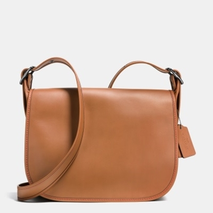 Picture of Coach Leather Saddle Bag