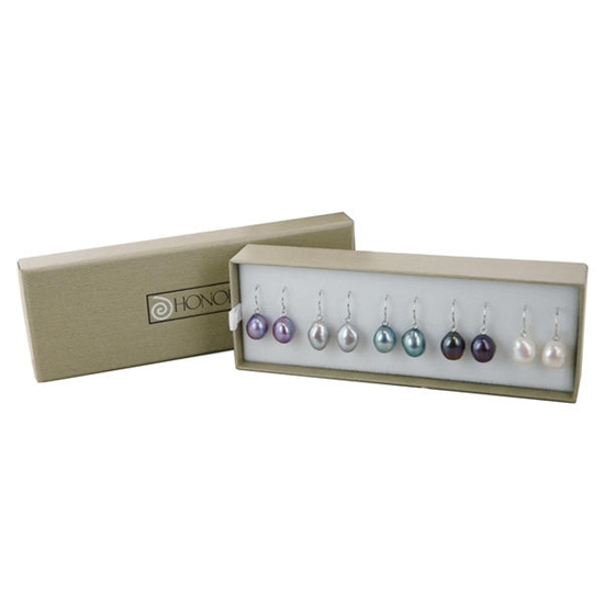 Picture of Honora Box Set of Five Drop Earrings