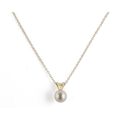 Picture of 14K 16-Inch 7mm Pearl Pendant