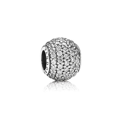 Picture of Pandora® Silver and Clear Pavé Cubic Zirconia Ball Charm