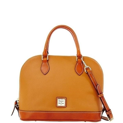 Picture of Dooney & Bourke™ Pebble Grain Zip Zip Satchel - Caramel