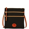 Picture of Dooney & Bourke™ Nylon North South Triple Zip - Black