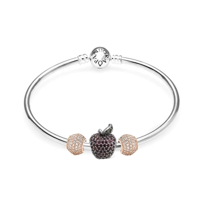 Picture of Dazzling Red Apple Bracelet