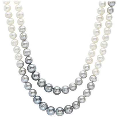 Picture of Grey and White Ombre Pearl Necklace