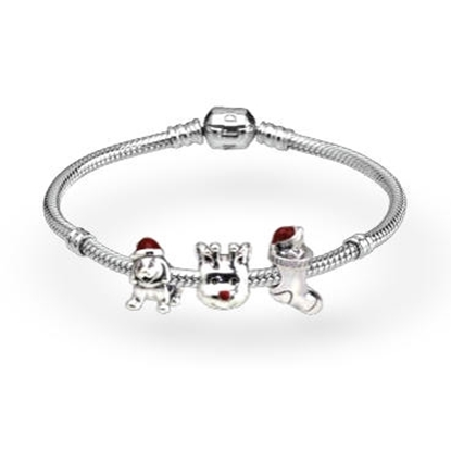 Picture of Christmas Red Enamel Bracelet