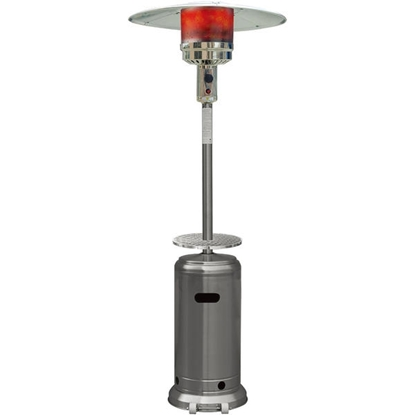 Picture of Hanover 7-Ft. 41,000 BTU Steel Umbrella Propane Patio Heater - Stainless Steel