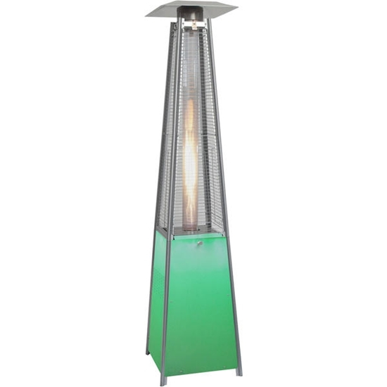Picture of 7-Ft. 42,000 BTU Square Propane Patio Heater with Stainless Steel Frame and Multi-Color LED-Lighted Base