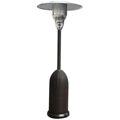 Picture of 7-Ft. 41,000 BTU Round Wicker Propane Patio Heater - Black