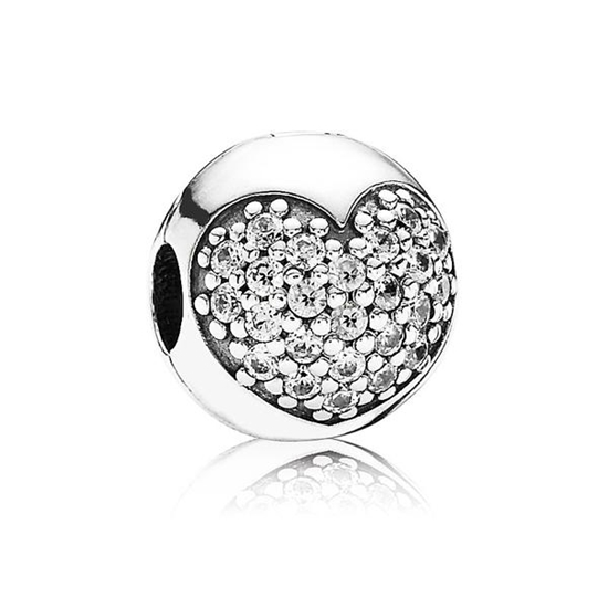 Picture of Pandora® Silver Pavé 'Love of My Life' Heart Clip