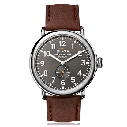 Picture of Men's Runwell Grey Dial Brown Leather Strap Watch