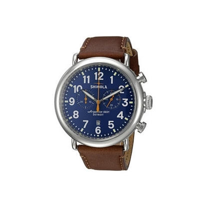 Picture of Men's Runwell Blue Chrono Watch, 47mm