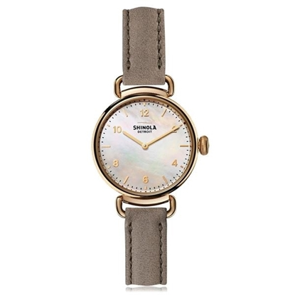Picture of Women's Canfield Grey Leather Strap Watch