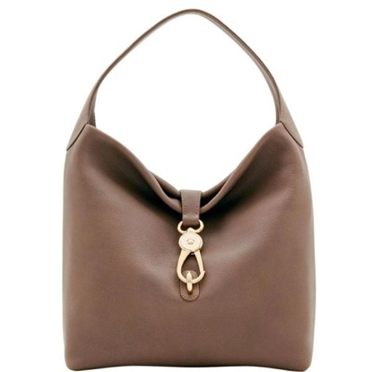 Picture of Dooney & Bourke™ Belvedere Logo Lock Shoulder Bag - Taupe