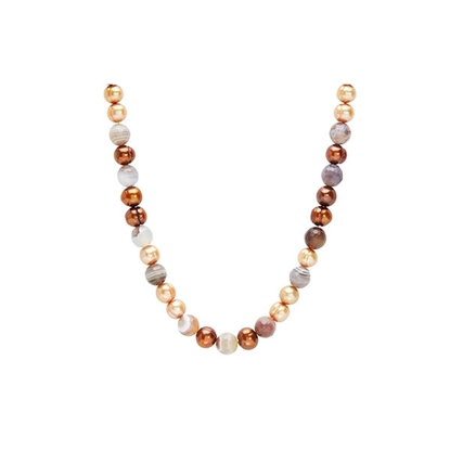 Picture of 18-Inch Chocolate Mocha Pearl Necklace