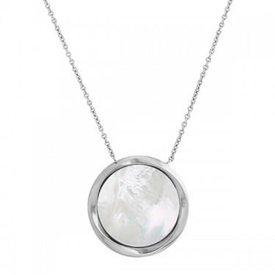 Picture of Honora White Mother of Pearl Pendant Necklace