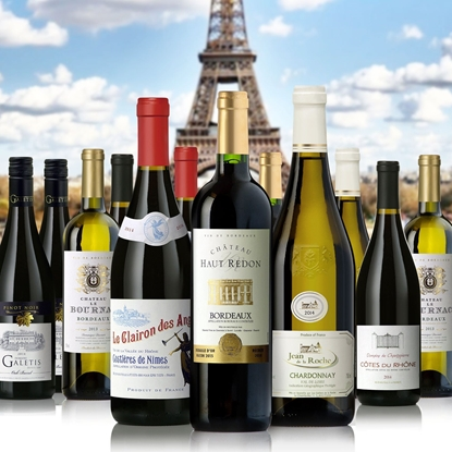 Picture of Vive La France' French Wine Sampler 12-Pack