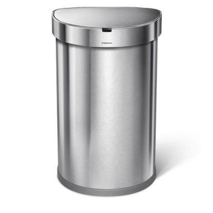 Picture of simplehuman 45L Semi-Round Sensor Can