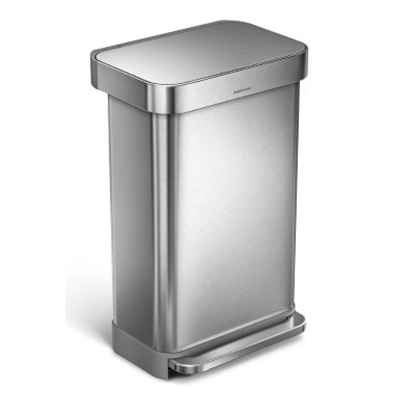 Picture of simplehuman 45L Rectangular Step Can