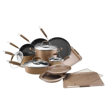Picture of Anolon Advanced Bronze 11-Piece Cookware & 5-Piece Bakeware