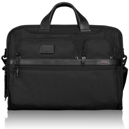 Picture of Tumi Alpha 2 Compact Large Screen Laptop Brief - Black