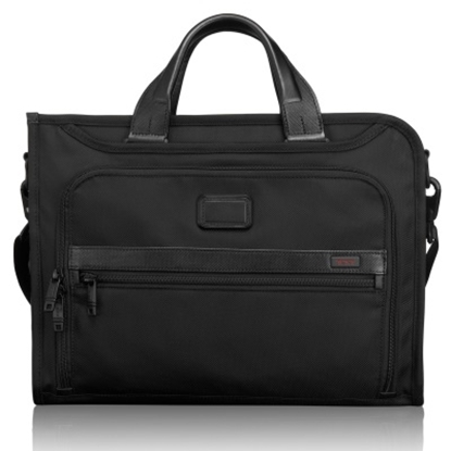 Picture of Tumi Alpha 2 Slim Deluxe Portfolio - Black