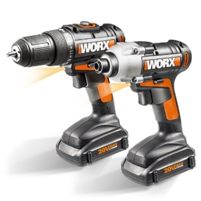 Picture of WORX 20V Lithium-Ion 2PC Combo Kit with Drill & Impact Driver