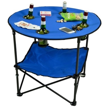 Picture of Picnic at Ascot™ Canvas Folding Picnic Table - Blue