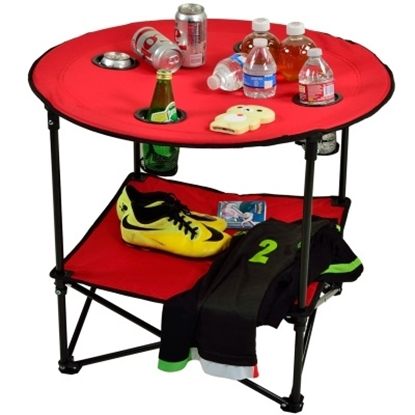 Picture of Picnic at Ascot™ Canvas Folding Picnic Table - Red