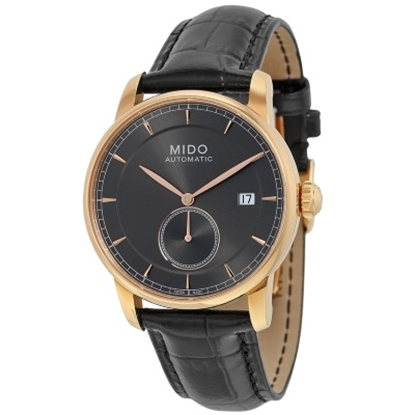 Picture of MIDO Baroncelli Automatic Black Leather w/ Rose Gold-Tone Case