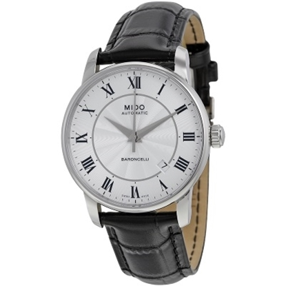 Picture of MIDO Baroncelli II Automatic Black Leather Watch