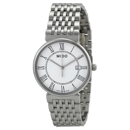 Picture of MIDO Dorada Quartz Stainless Steel Watch with White Dial