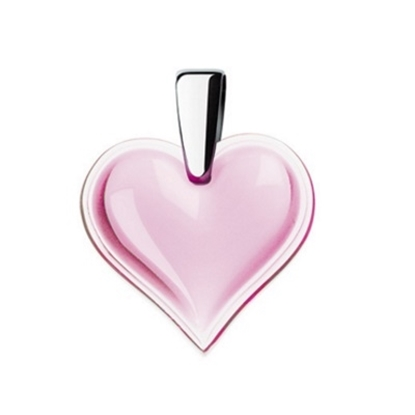Picture of Lalique Heart Pendant - Pink