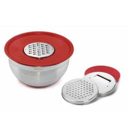 Picture of Cuisinart Mixing Bowl with Graters and Lid