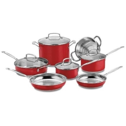 Picture of Cuisinart Chef's Classic 11-Piece Cookware Set - Red