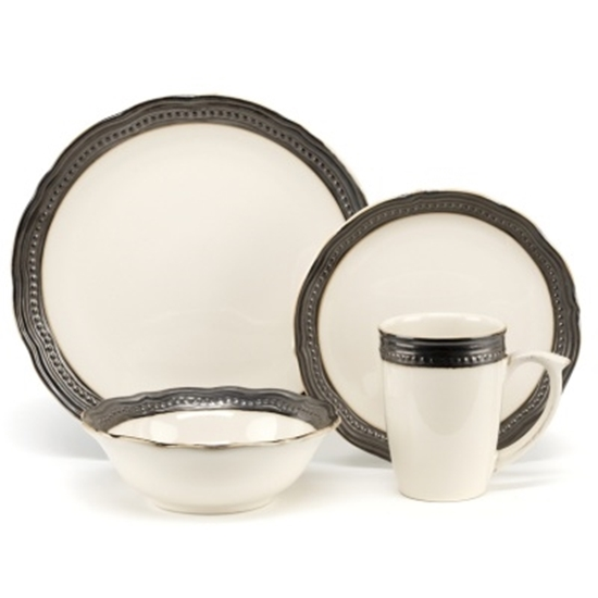 Picture of Cuisinart Jenna Natural 16-Piece Stoneware Dinnerware Set