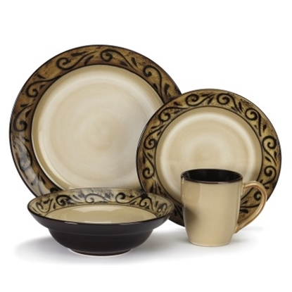 Picture of Cuisinart® Isere 16-Piece Stoneware Dinnerware Set