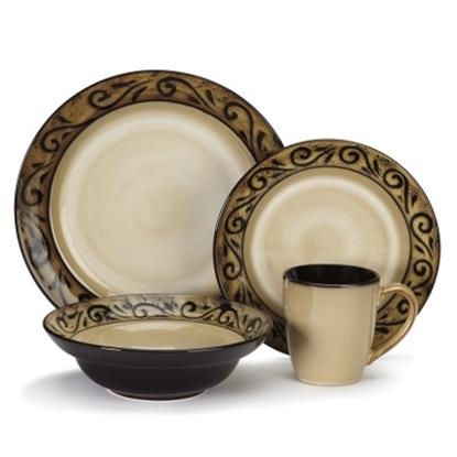 Picture of Cuisinart® Isere 16-Piece Stoneware Dinnerware Set
