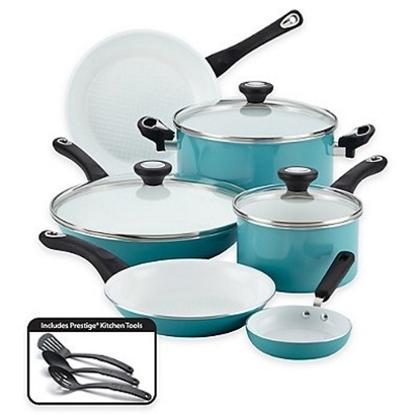 Picture of Farberware® Purecook Nonstick Ceramic 12PC Cookware - Aqua