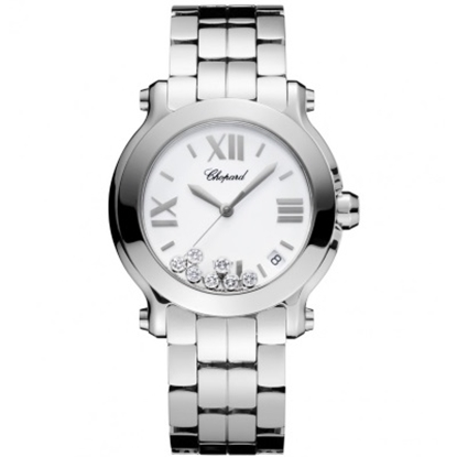 Picture of Chopard Happy Sport Bracelet Watch with White Dial