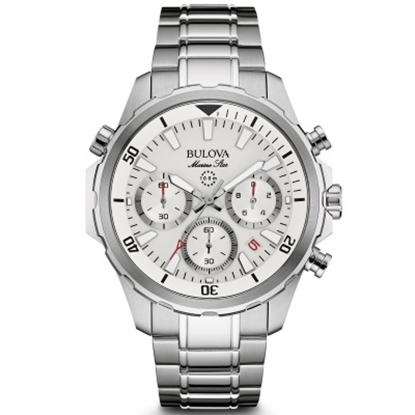 Picture of Bulova Men's Marine Star Chronograph Watch with White Dial