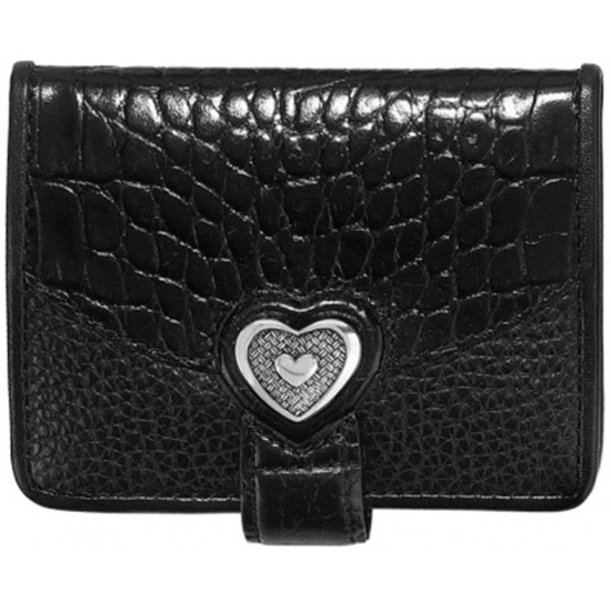 Picture of Brighton Bellisimo Heart Small Wallet - Black