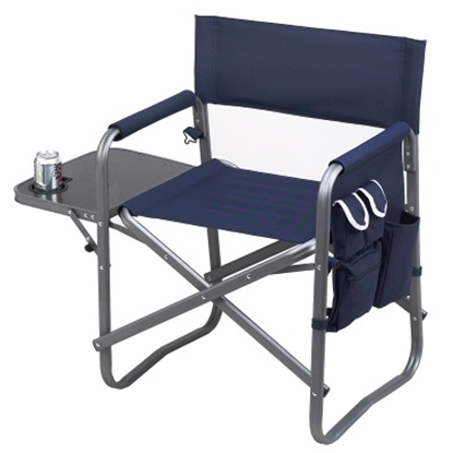 Picture of Picnic At Ascot Sports Chair with Table - Navy/Set of 2