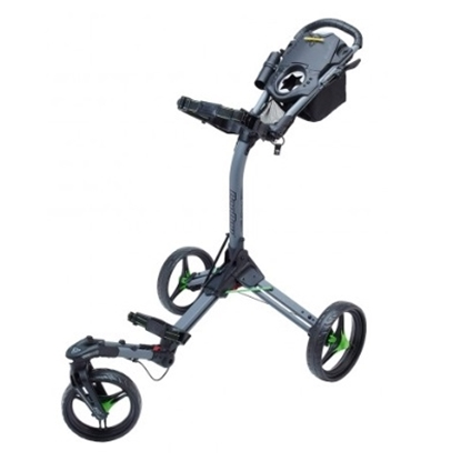 Picture of BagBoy® Triswivel II Push Cart - Battleship Gray/Lime