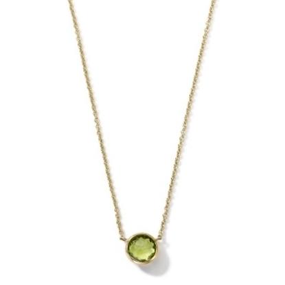 Picture of Ippolita 18K Gold Mini-Lollipop Necklace in Peridot