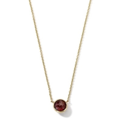 Picture of Ippolita 18K Gold Mini-Lollipop Necklace in Garnet