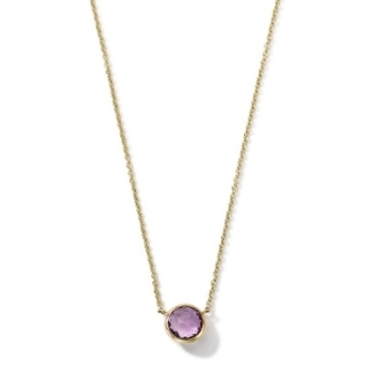Picture of Ippolita 18K Gold Mini-Lollipop Necklace in Amethyst